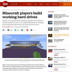 Minecraft players build working hard drives