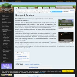 Minecraft Realms – Le Minecraft Wiki officiel