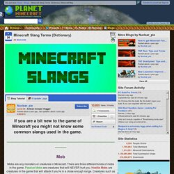 Minecraft Slang Terms (Dictionary) Minecraft Blog
