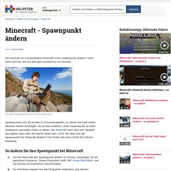 Minecraft - Spawnpunkt ändern