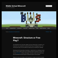 Minecraft: Structure or Free Play?