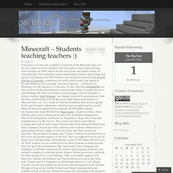 Minecraft – Students teaching teachers :)