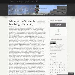 Minecraft – Students teaching teachers :)