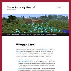 Temple University Minecraft