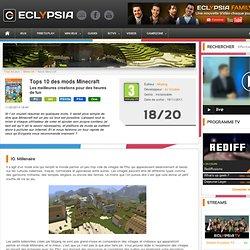 Minecraft : Top 10 meilleurs Mods du Jeu