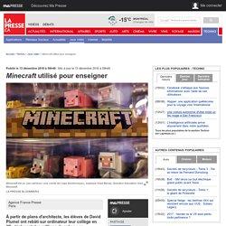 Minecraft utilisé pour enseigner