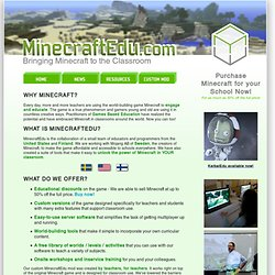 Bringing Minecraft to the Classroom