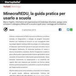 MinecraftEDU, la guida pratica per usarlo a scuola