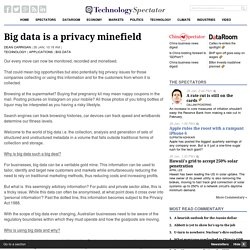 Big data is a privacy minefield