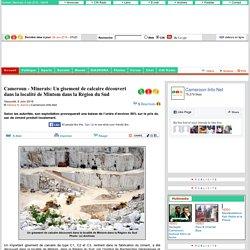 Minerais: Un gisement de calcaire découvert dans la localité de Mintom dans la Région du Sud