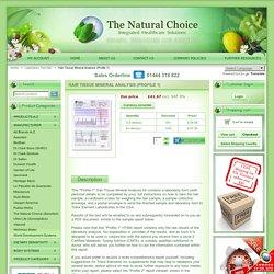 Hair Tissue Mineral Analysis (HTMA) - Profile 1