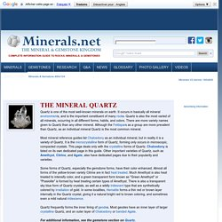 Quartz: The mineral Quartz information and pictures