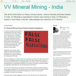 VV Mineral Mining Stays Positive Despite Allegations