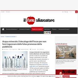 Acqua minerale: il decalogo per smentire le false pubblicità