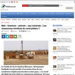 Uranium – pétrole – eau minérale : Les ressources minières du nord pillées ?