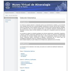 Museo Virtual de Mineralogia Universidad de Huelva