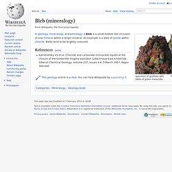 Bleb (mineralogy)