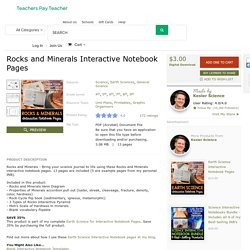 Rocks and Minerals Interactive Notebook Pages by Kesler Science