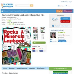 Rocks & Minerals Lapbook: Interactive Kit