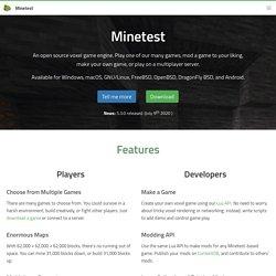 Minetest - Open source voxel game engine (clone de Minecraft)
