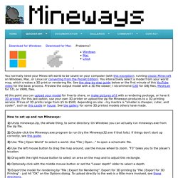 Mineways Downloads/Quick Start
