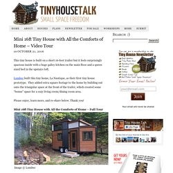 Mini 16ft Tiny House with All the Comforts of Home - Video Tour