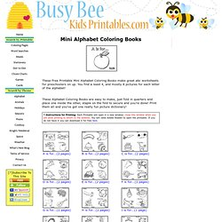 Mini Alphabet Coloring Books