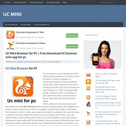 Free download UC browser mini app for pc