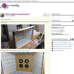 Mini cabine de peinture
