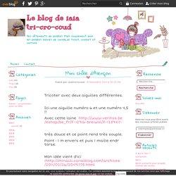 Mini châle d'Alençon - Le blog de iaia tri-cro-coud
