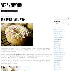 Mini Donut Test Kitchen