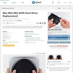 Mac Mini Mid 2010 Hard Drive Replacement