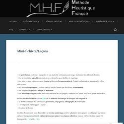 Mini-fichiers/Leçons – MethodeHeuristiqueFrancais