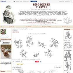 mini fleurs - Broderie d'Antan