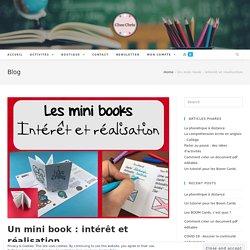 Un mini book : intérêt et réalisation - Chez Chris