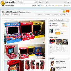 Mini JAMMA Arcade Machine - All