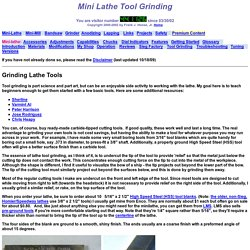 Mini Lathe Tool Grinding