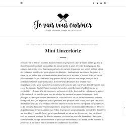 Mini Linzertorte – je vais vous cuisiner