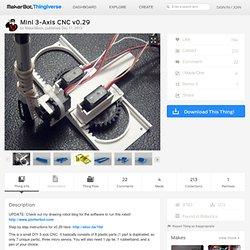 Mini 3-Axis CNC v0.29 by MakerBlock