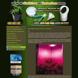 Mini manual de cultivo interior con leds