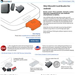 Mini MicroSD Card Reader by Meenova