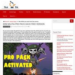 Mini Militia pro pack hack free version