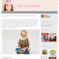 Mini Must Have®: Style For The Small
