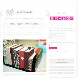 Mini Origami Books Tutorial