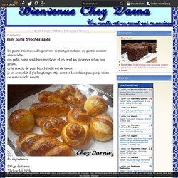 mini pains briochés salés
