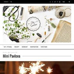 Mini Pavlova - DIY Sweden