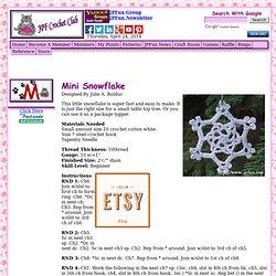 Crochet Pattern Central - Free Snowflake Crochet Pattern