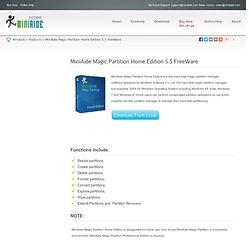 MiniAide Magic Partition Home Edition 5.5 FreeWare