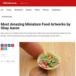 Most Amazing Miniature Food Artworks by Shay Aaron | The Wondrous Design Magazine