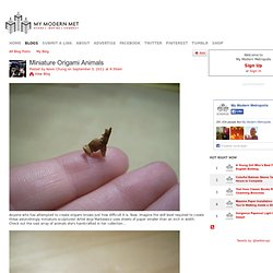 Miniature Origami Animals